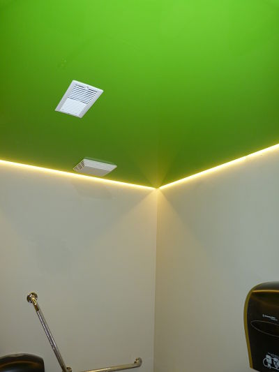 14 12 4 restroom green lacquered ceiling