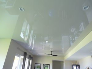 High gloss ceiling for basement suite