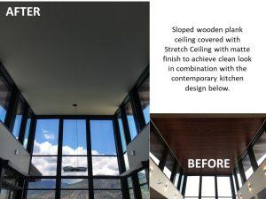 Sloped Ceiling Kitchen Renovation