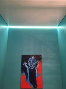 Stretch Ceiling with ambient LED lighting for feature wall
